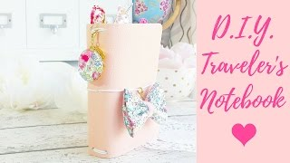 DIY Traveler's Notebook Tutorial | How To Make a No Sew Faux Leather TN | Hobonichi Cover Diy A6