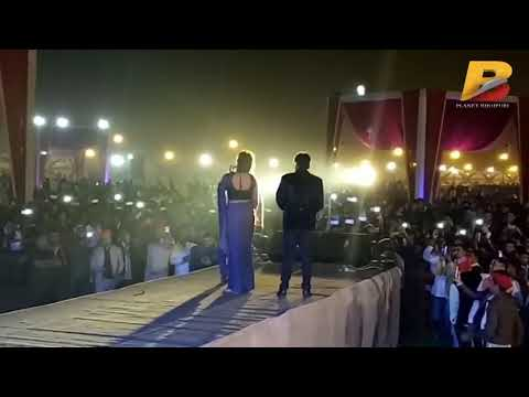 Khesari Lal Yadav and Akshara Singh with Pawan Singh Stage show 2018 in Patna (Aurangabad) Bihar