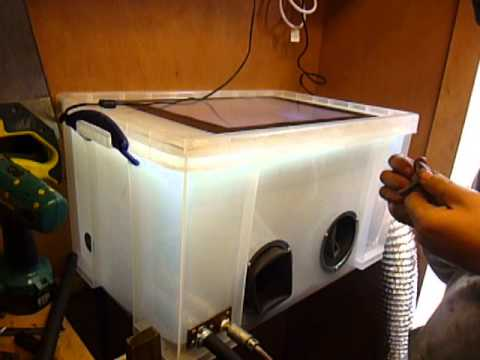 Really Usefull Box Media Blasting Cabinet Youtube