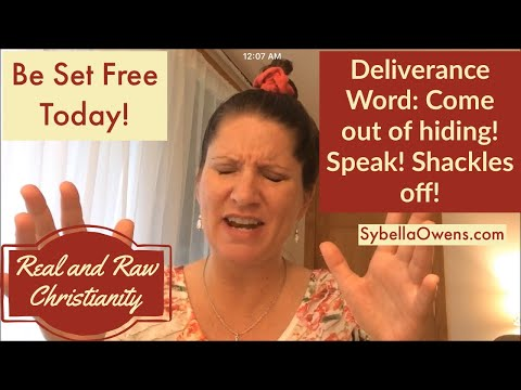 Come out of Hiding, Speak, Shackles off! | Sybella Owens