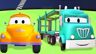 Odtahový vůz Tom a tyrák   Animák z prostředí staveniště s auty a nákladními vozy (pro děti)