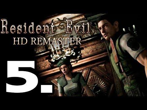 RESIDENT EVIL HD REMASTER GAMEPLAY ESPAÑOL #5 - LA CASA DE INVITADOS