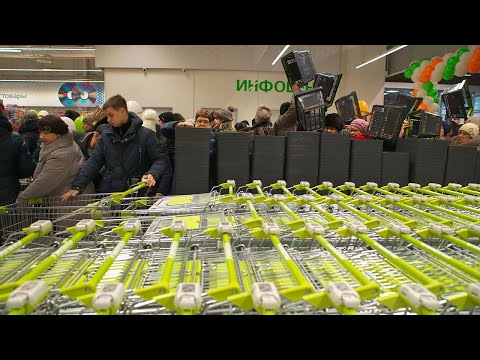 Открытие гипермаркета «Гиппо» в Витебске