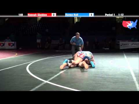 Fargo 2012 148 5th Place Match: Hannah Gladden Alabama vs. Hanna Hall Ohio