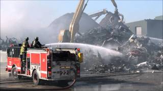 Still & Box Alarm/Level 1 HazMat Junk Yard Fire 12/6/15