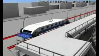 إعجاز صيني، اركب وانزل من القطار وهو منطلق بأقصى سرعته