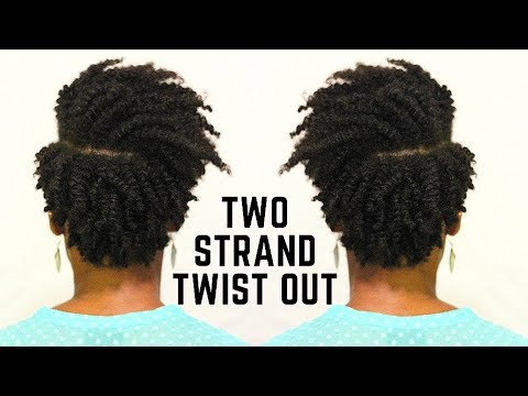 Short Tapered Natural Hair Episode 2 Two Strand Twist Out Naturally Michy Youtube