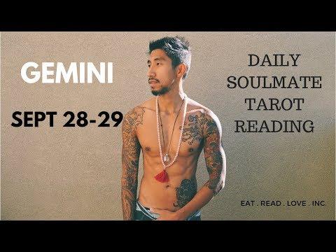 "GEMINI SOULMATE ""PATIENCE MY DEAR"" SEPTEMBER DAILY 28 29 TAROT READING"