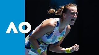 Maria Sakkari vs Petra Kvitova - Match Highlights (4R) | Australian Open 2020