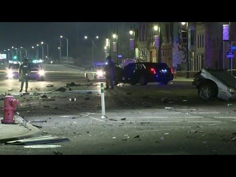 Violent collision in Detroit rips car in half, kills 3
