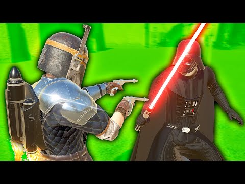 Mandalorian Fights DARTH VADER - Blade and Sorcery VR Mods (Star Wars) |