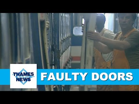 British Rail Faulty Doors   Thames News Archive Footage
