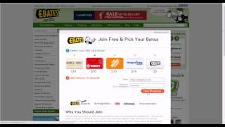 Getting cash back from Amazon using Ebates
