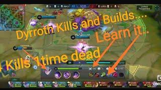 Dyrroth Life Steel Builds Kills DefenceIn Mobile Legends Legendary Kills.