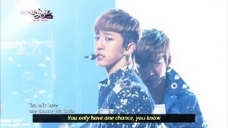 B.A.P - One Shot (2013.04.13) [Music Bank w/ Eng Lyrics]