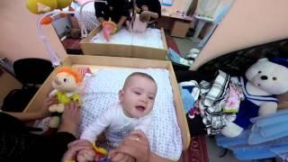 Гимнастика для малышей 9 месяцев(Делаем массаж и гимнастику., 2016-04-15T17:37:01.000Z)