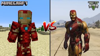 MINECRAFT SUPERHERO IRON MAN VS GTA 5 SUPERHERO IRON MAN - WHO IS BEST?