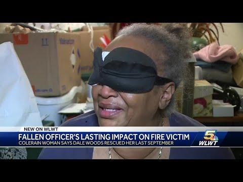 Blind woman remembers fallen Colerain officer as her hero