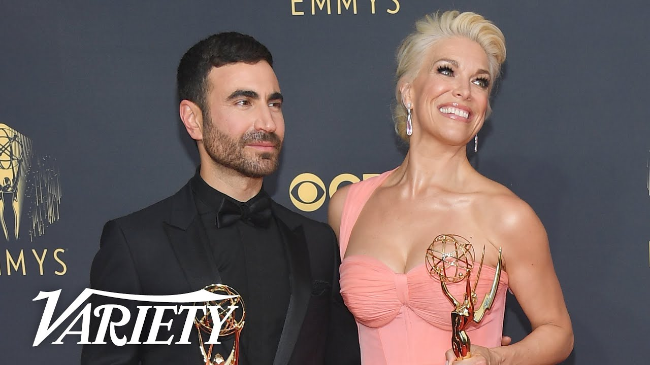 Brett Goldstein & Hannah Waddingham - Full Backstage Interview - Emmys 2021