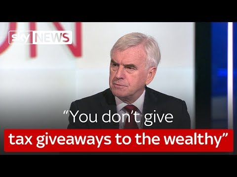 """You don't give tax giveaways to the wealthy"""
