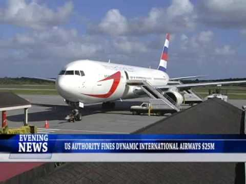 US AUTHORITY FINES DYNAMIC INTERNATIONAL AIRWAYS $25M