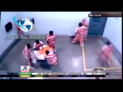 Caught on Camera: Child Molester Gets Beaten Terribly in Jail