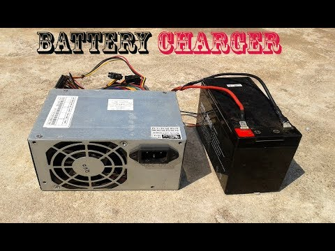 DIY Computer Power Supply To Battery Charger
