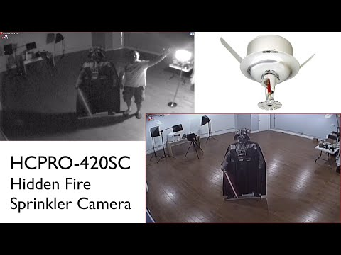 Fire Sprinkler Security Camera