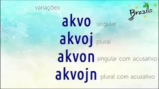 AKVO substantivo em Esperanto