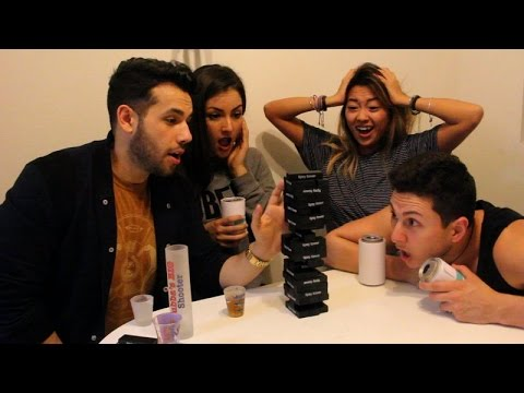 Couples Drinking Game Tipsy Tower Youtube