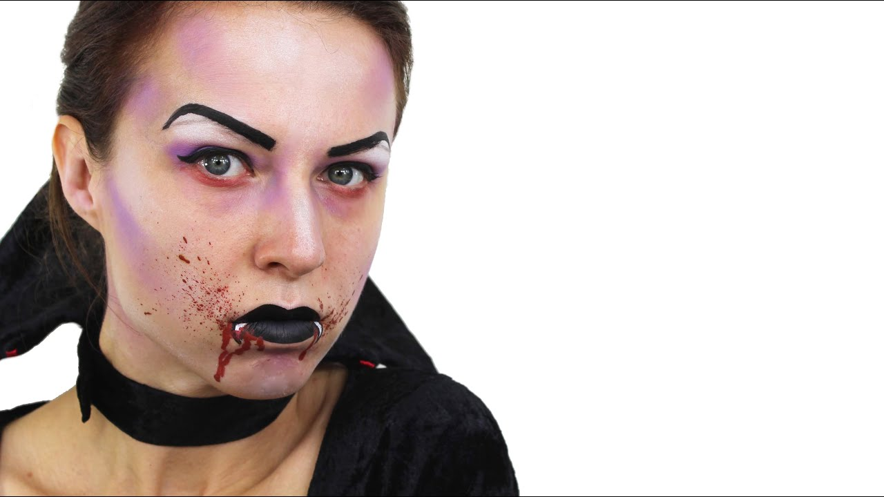 Uncategorized Dracula Face Painting quick easy vampire make up for halloween youtube