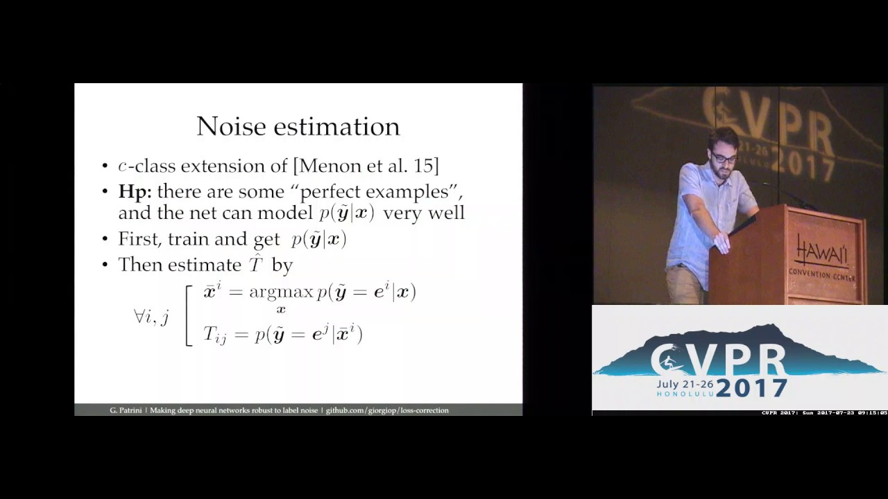 Making Deep Neural Networks Robust to Label Noise: A Loss Correction  Approach