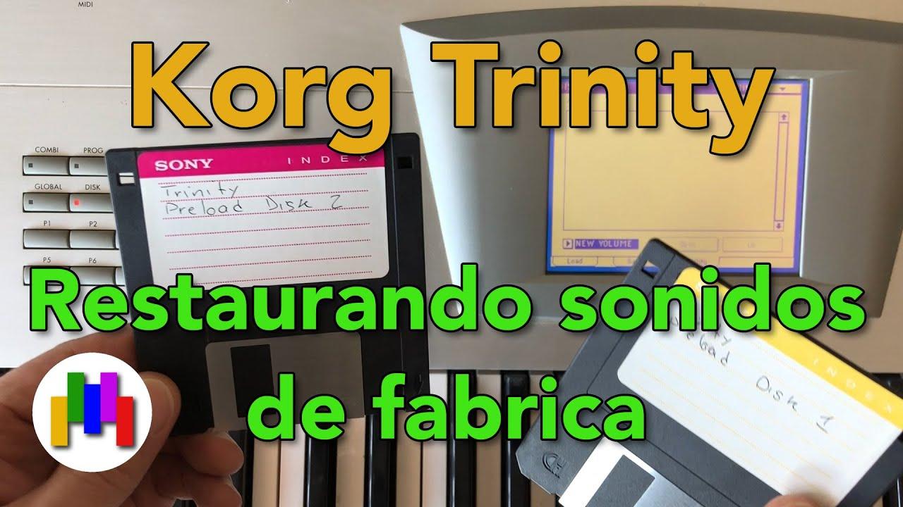 Restaurando sonidos de fabrica Korg Trinity