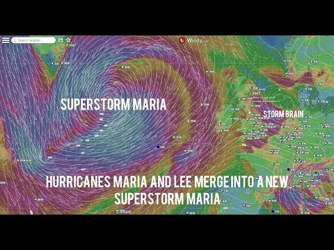 Storm Maria and Brian Live Tracking