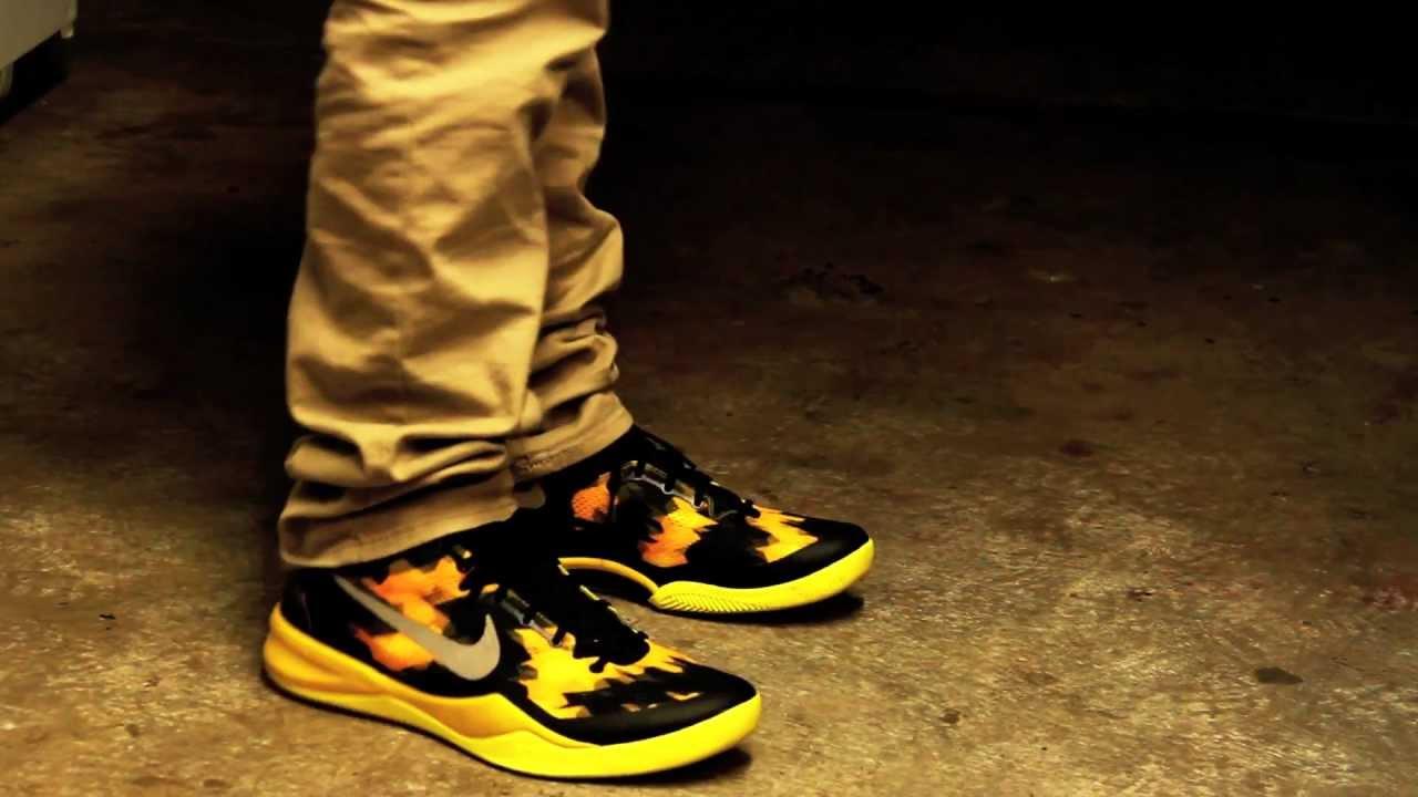 quality design fb841 fb7c9 Nike Kobe 8 System Lakers Away Home ON FEET - IDSolecreator - YouTube