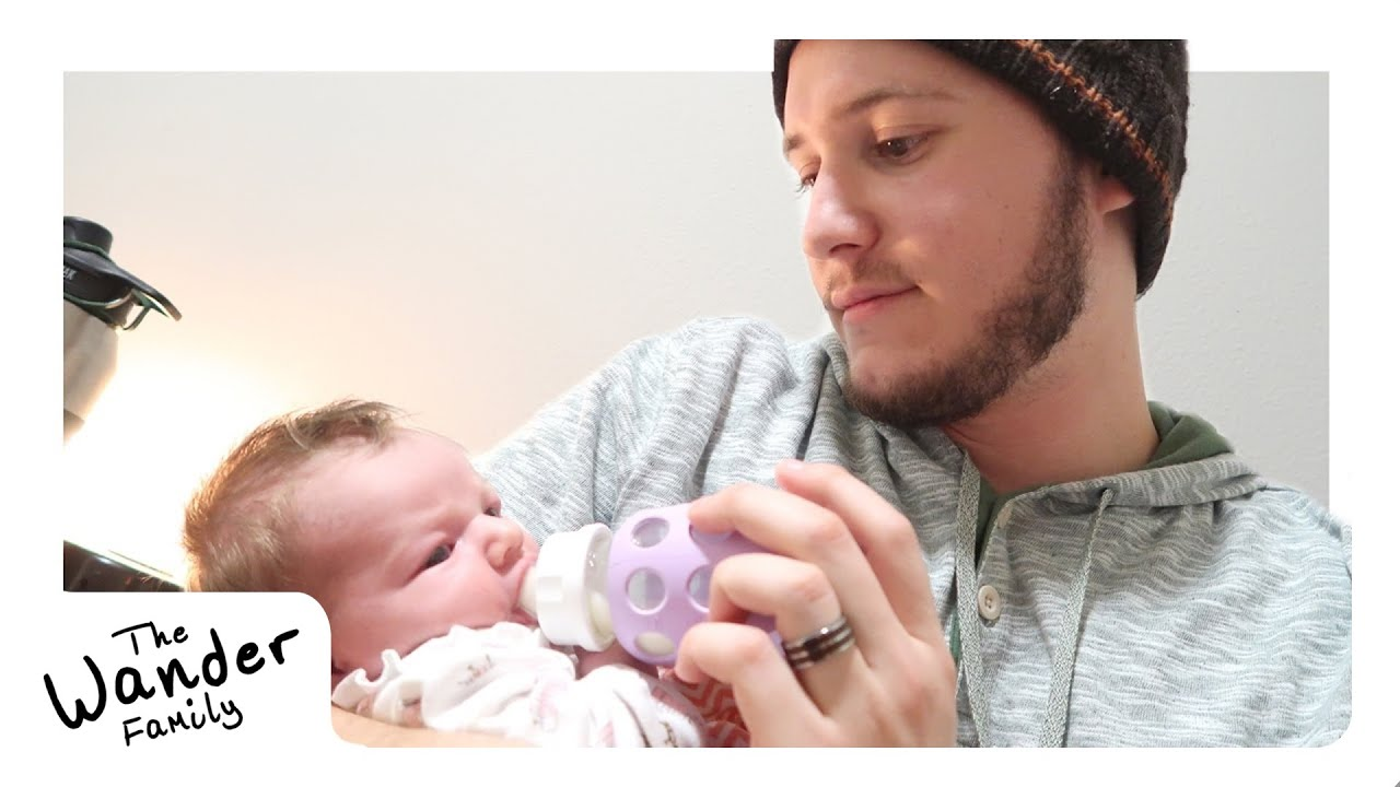 First Time Bottle Feeding Baby The Wander Family Youtube