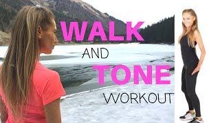 WALK AT HOME - 10 MINUTE WALK AND TONE WORKOUT - FUN VIRTUAL WALK