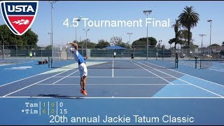Tennis with Tam: USTA NTRP 4.5 Tournament Final Highlights HD
