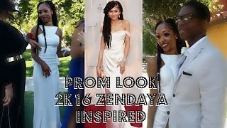 Prom Look 2K16 Zendaya Inspired ♡ Faux Locs ♡ Makeup ♡ Dress ♡ Drew Babyy