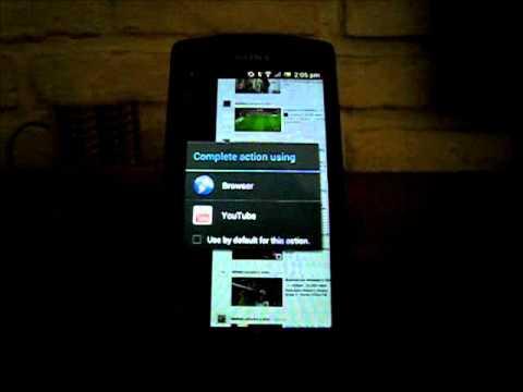 Web Browsing pada Sony Xperia Neo L