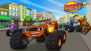 Blaze and the Monster Machines: New Dragon Island Track / Build Your Own Track - iOS Gameplay