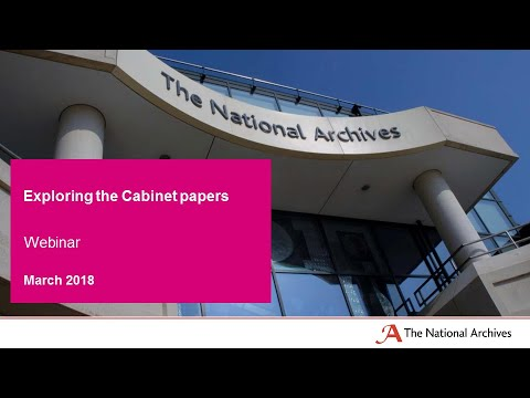 Webinar: Exploring the Cabinet papers