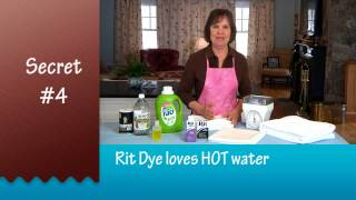 How to Dye Clothes: 6 Secrets to Successful Dyeing presented by the Rit Studio