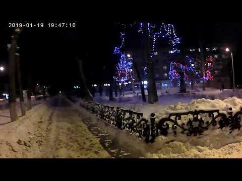 Поездка на каток 25 район город Кинешма зима снег коньки лед