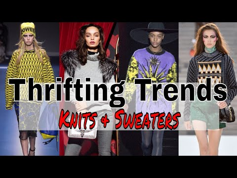 Thrifting Trends Ep. 2 | Sweaters, Jumpers & Knits | Fall/Winter Trends 2017 | Massive Thrift Haul
