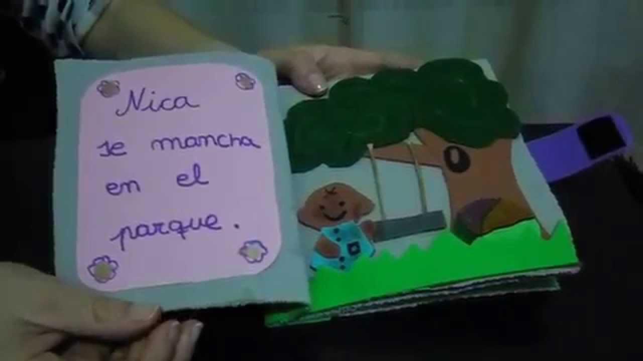 Libro de goma eva - Titulo NICA - YouTube