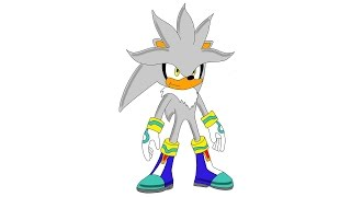 How to draw Silver Sonic