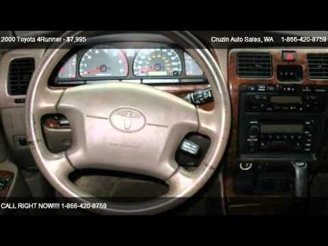 2000 Toyota 4Runner Limited 4WD - for sale in Tacoma, WA 98444
