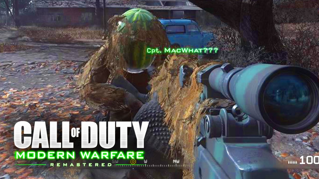 MODERN WARFARE REMASTERED EASTER EGG! - His Name is What? - Funny