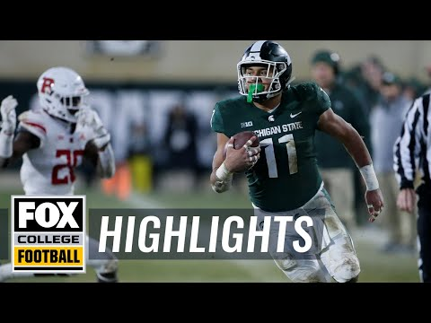 Michigan State vs Rutgers | FOX COLLEGE FOOTBALL HIGHLIGHTS